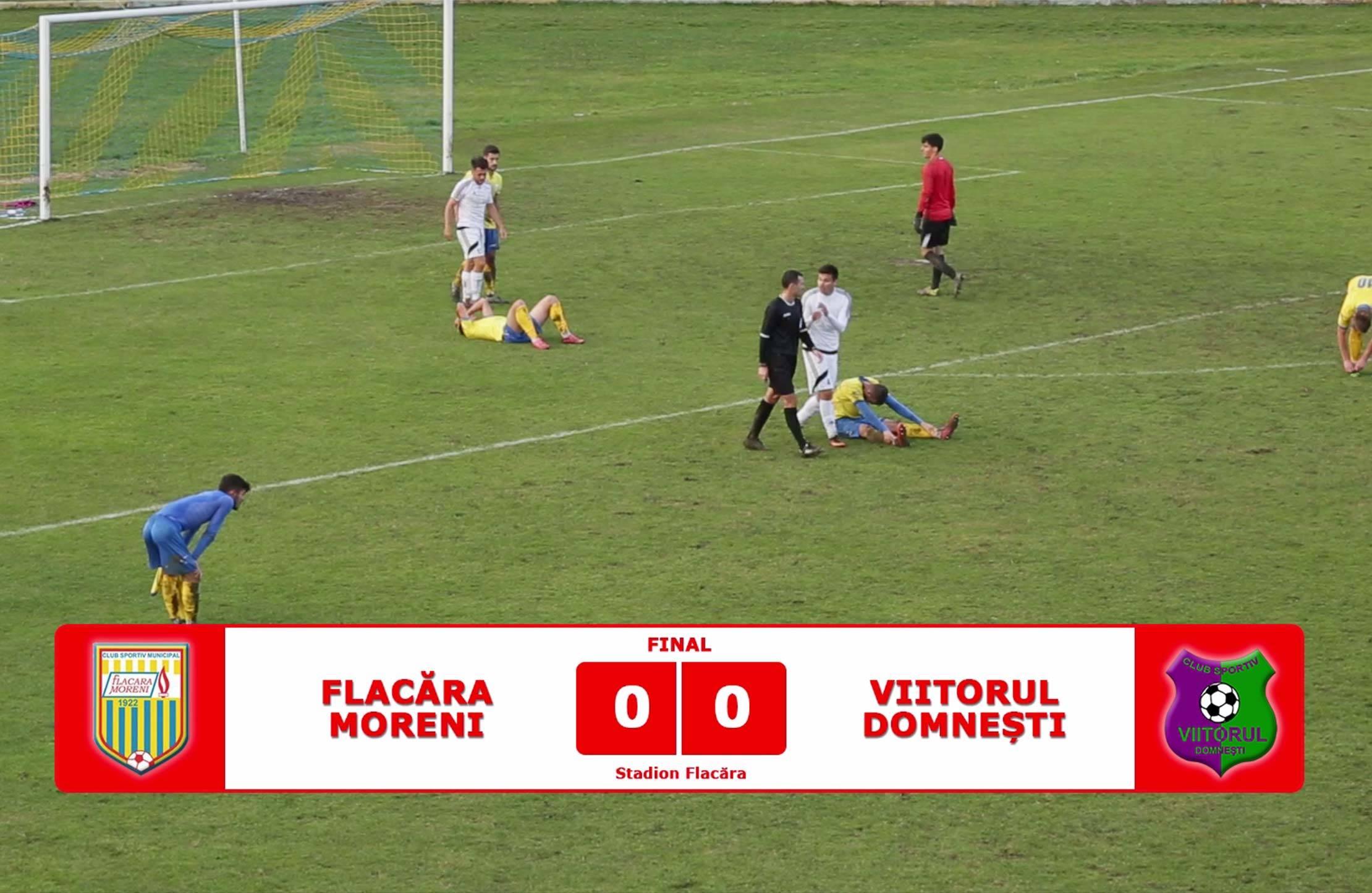 Flacăra Moreni - Viitorul Domnești 0-0